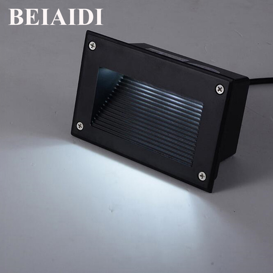BEIAIDI 10pcs 3W Waterproof Led Stair Step Light Outdoor Recessed ... for Wall Foot Light  197uhy