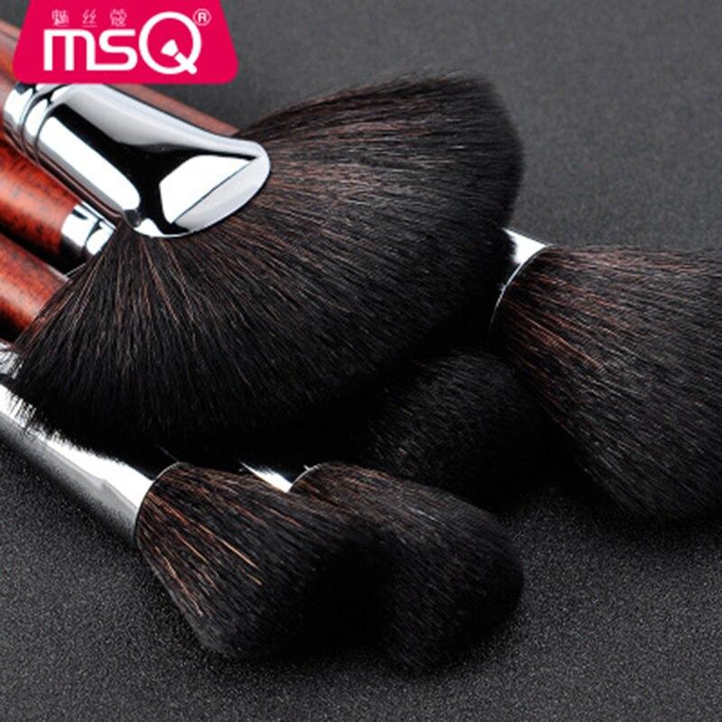 MSQ Высокое качество набор кистей для макияжа черные женские косметика по уходу за бровями Румяна для лица кисть порошок для губ Тени для век ... - 5