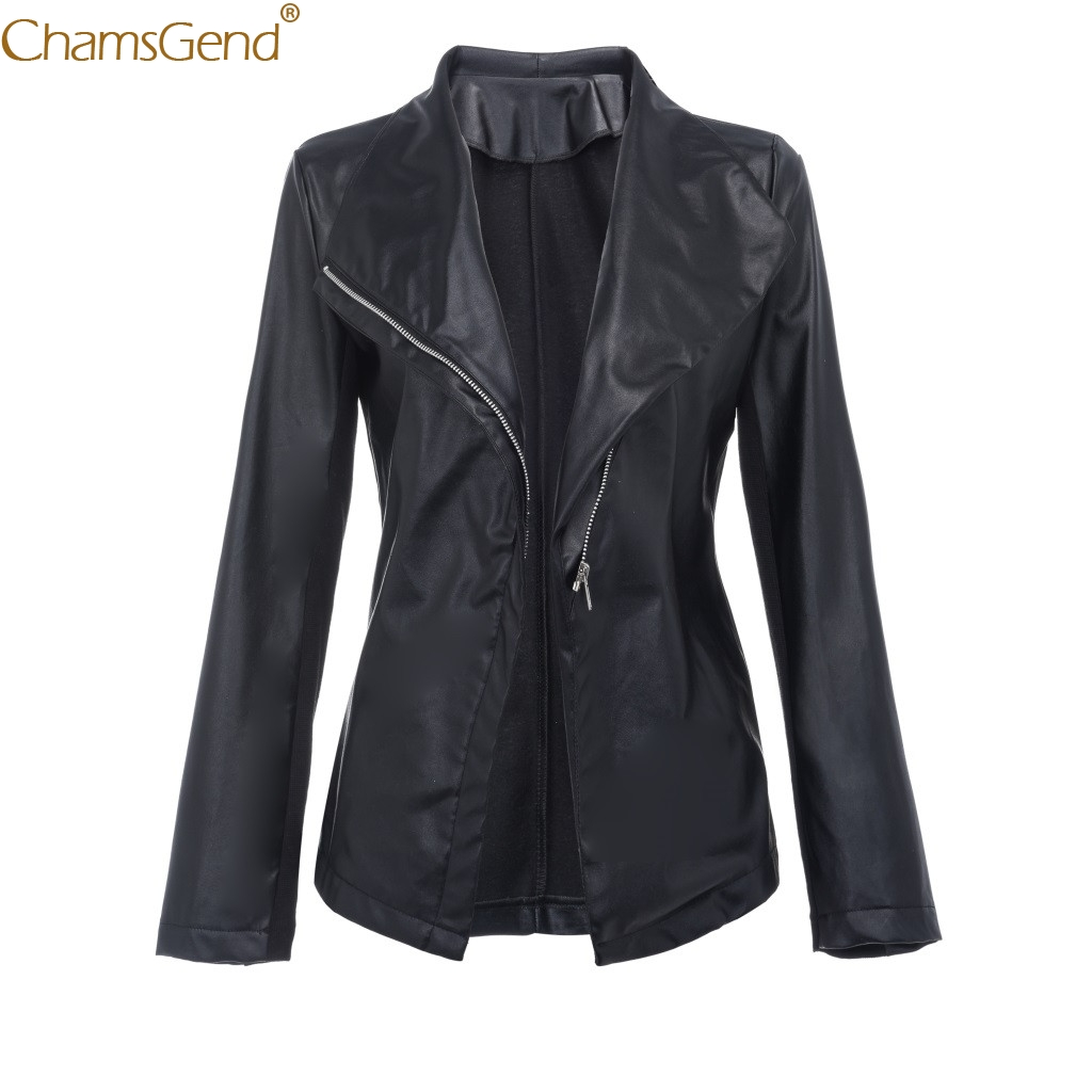 Autumn Black Short Coat Leather Loose Long Sleeve Coat Casual Turn-down Coat Solid Tops Genuine Leather Fashion Women Dec15