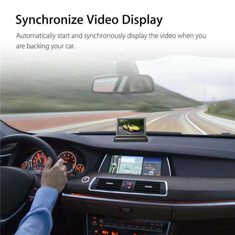 Yuanting 4.3 ''รถหน้าจอ LED กันน้ำรถที่จอดรถย้อนกลับ HD ดูด้านหลังกล้อง