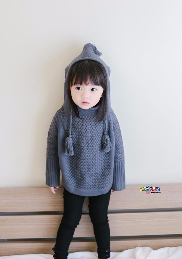 child hooded knitted sweaters 12