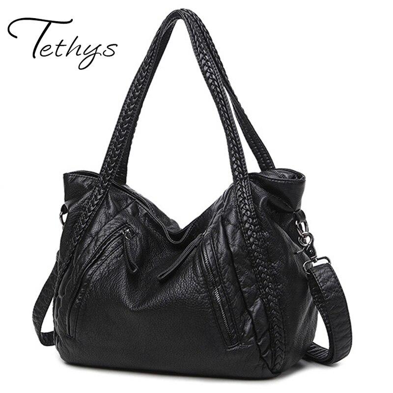 Shoulder bags women female pu leather crossbody bag ladies large handbags messenger...
