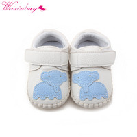 0-18M Boy Girls Baby First Walker Soft Sole PU Leather Shoes Infant Toddler Crib Moccasin Jane Shoes