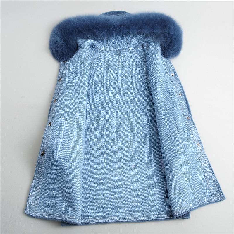 Automne Terme Des Manteau Fourrure 18039 Hiver Royal Et Composite Bleu De Maylooks À Long Nouvelle Femmes 2018 EnBwCxpq