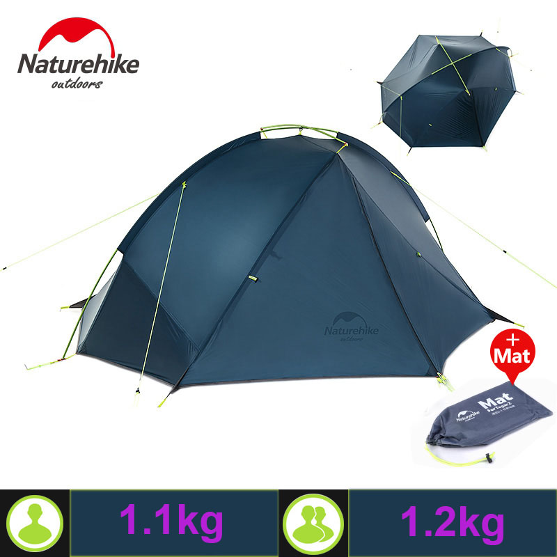 Naturehike 20D Nylon Taga Outdoor Camping Tent Ultralight One Bedroom One Man Only 1kg Two Man 1.2kg Waterproof barraca tenda high quality outdoor 2 person camping tent double layer aluminum rod ultralight tent with snow skirt oneroad windsnow 2 plus