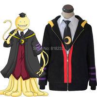 Assassination Classroom Korosensei Hoodie Coat Jacket Outwear Cosplay Costumes