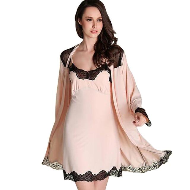 Robe Sets Imitated Silk Women Pajamas Sets 2016 Hot Sales Women Robe & Sets For Girls Nightgown