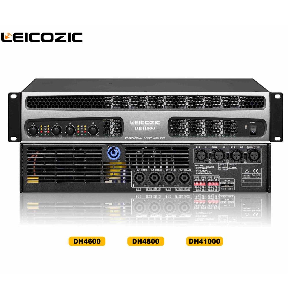 цены на Leicozic DH41000 Professional power amplifier 1000w 4 channel professional stage amplifiers for line array subwoofer 1500W@4ohms в интернет-магазинах