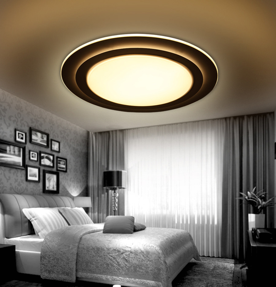 creative bedroom lighting. Round LED Ceiling Light Modern Minimalist Bedroom Creative Atmosphere Super Thin Living Room Lamp Study Lamp-in Lights From \u0026 Lighting A