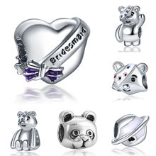 Fit Pandora Charms Plata Clips Silver 925 Original Bracelet Jewelry Making Valentine's Day Mary Poppins Bijoux Sieraden Beads(China)