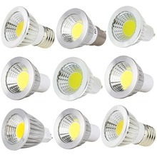 цена на 10X Led Dimmable Bulbs GU10 E27 E14 MR16 AC DC 12V LED COB Spotlight 6W 9W 12W 220V 110V Spot Light Bulb High Power lamps