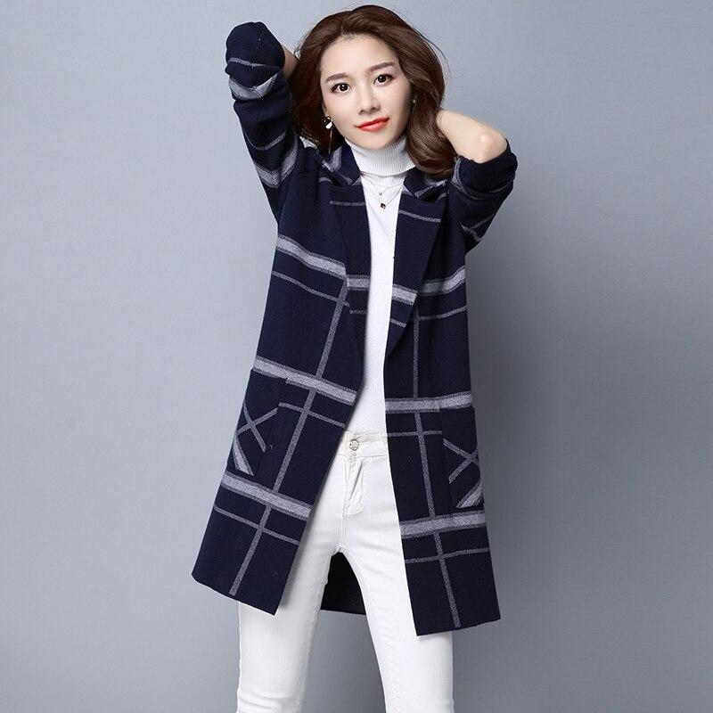 Lâche 7 1 Coréenne Veste 3 À Vêtements Des Tricot Pull 6 Cardigan Manteau 5 De Enfant 2 En D'hiver Version Et 4 Grille Longues Cachemire Manches L'automne FAq0q