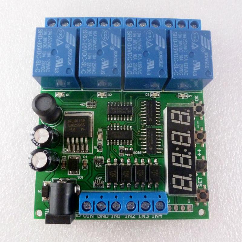 DC 5V 12V 24V 4 Channel Pro mini PLC Board Relay Shield
