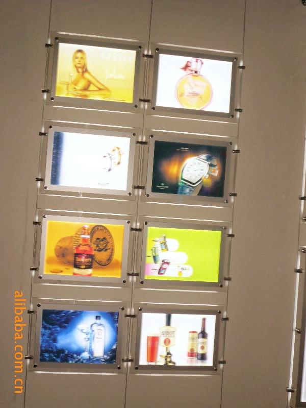 A3 2 Pieces LED Window Light Pocket Panel Estate Agent Display Kit Single Side