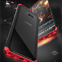 For Samsung Galaxy S8 Case Plus PC Tempered Glass Original Luxury Brand Metal Phone Cover For