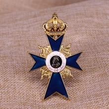 Немецкая грудь звезда ордена баварских заслуг значок с крестом