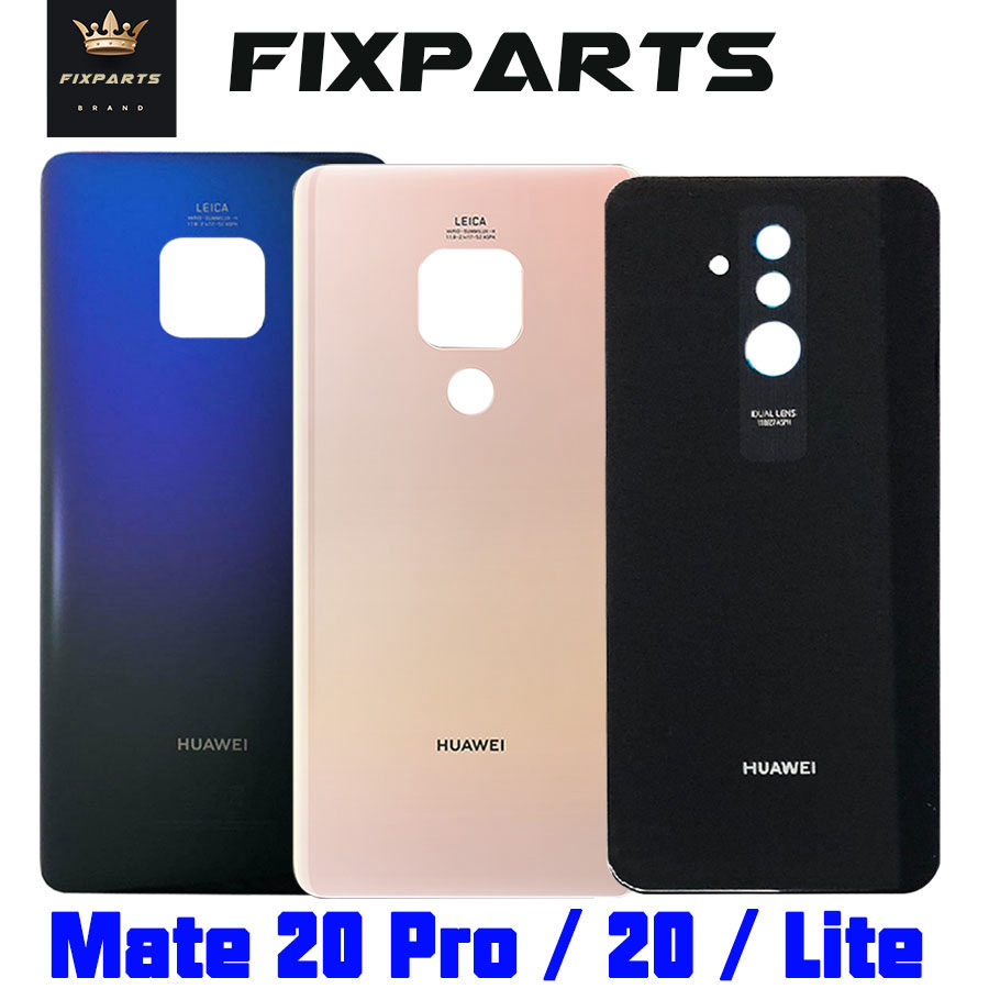 Original Huawei Mate 20 Lite Battery Cover Back Glass Panel Rear Door Housing Case For Huawei Mate 20 Pro Battery Cover Mate20