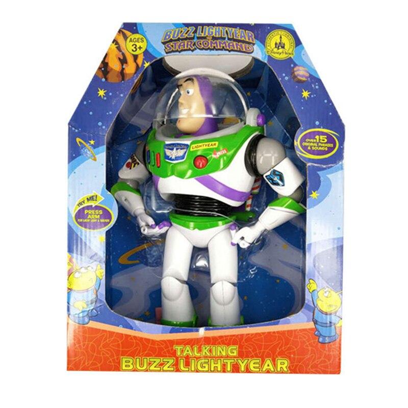 Disney Pixar Toy Story 4 Buzz Lightyear Can Talk Sound and light toys Deformation Sherif Woody