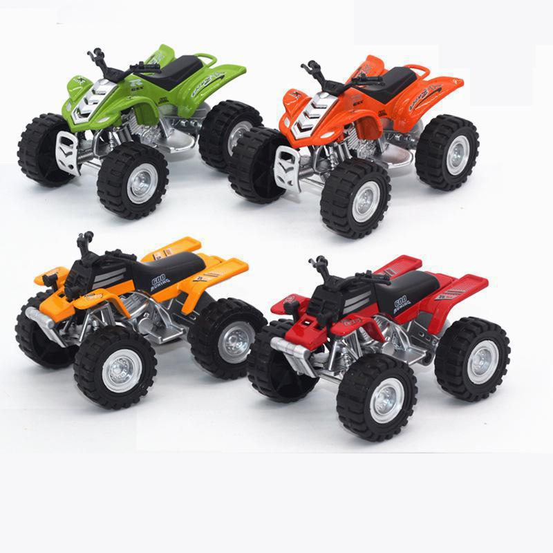 4pcsset diecast cars alloy beach motorcycle vehicles toys for children brinquedos small metal model