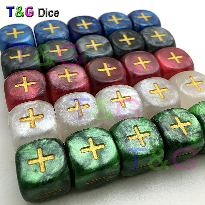 New 6pcs/set 5 Color 16mm Fate Or Fudge Dice ,two Of