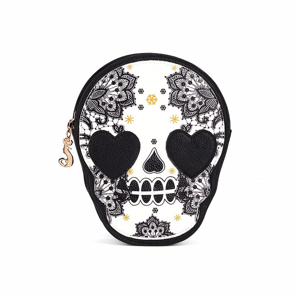 Messenger Handbag Purse Shoulder-Bags Skull Daily Shopping-All-Purpose Black Hot-Sale