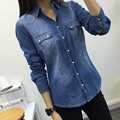 Spring and Autumn New Arrival Female Fashion Denim Shirt Long-Sleeve Slim Shirt