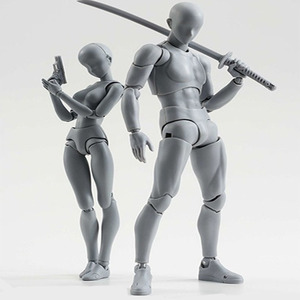 Image 2 - 14cm Male Female Movable body chan joint Action Figure Toys artist Art painting Anime model SHF Mannequin bjd Art Sketch Draw