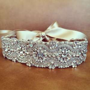 JLZXSY Elegant Luxury Crystal Pearl Dress Belt For Women e8f4bbdce36b