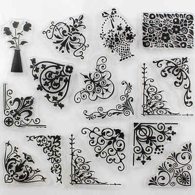 1PCS TPR silicon clear Stamp Feather flowers butterfly Stamp DIY Scrapbooking/Card Making/ Decoration Supplies