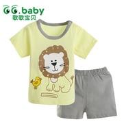 2pcs Set T Shirt Set Baby Clothing Set Summer Style Lion Newborn Baby Boy Girl Clothes