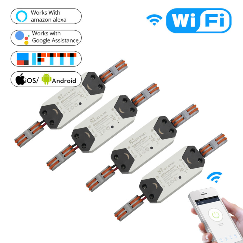 Diy Wifi Smart Light Switch Universal Breaker Timer Wireless Remote Control Works With Alexa Google Home