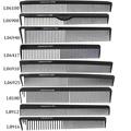 Professional Carbon Fiber Combs Anti Static Barber Tool Black Antistatic Cutting Comb Full Style Choose
