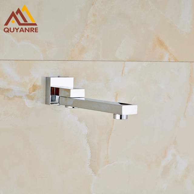 Free Shipping Chrome Finish Br Tub Filler Wall Mounted Bathroom Shower Spout Bathtub Taps