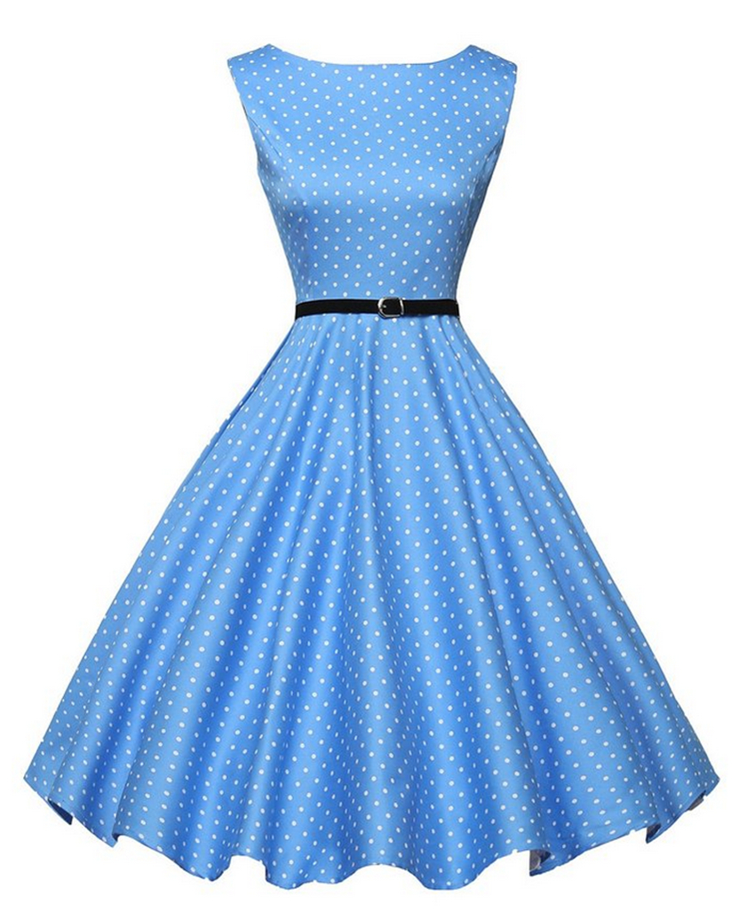 SZMXSS Women 60s 50s Dress Elegant Vintage Rockabilly Pinup