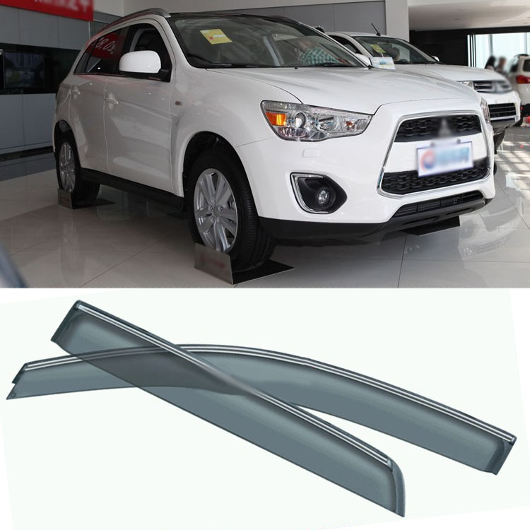 4pcs Blade Side Windows Deflectors Door Sun Visor Shield For Mitsubishi ASX 2013 4pcs blade side windows deflectors door sun visor shield for toyota verso ez 2011 2014