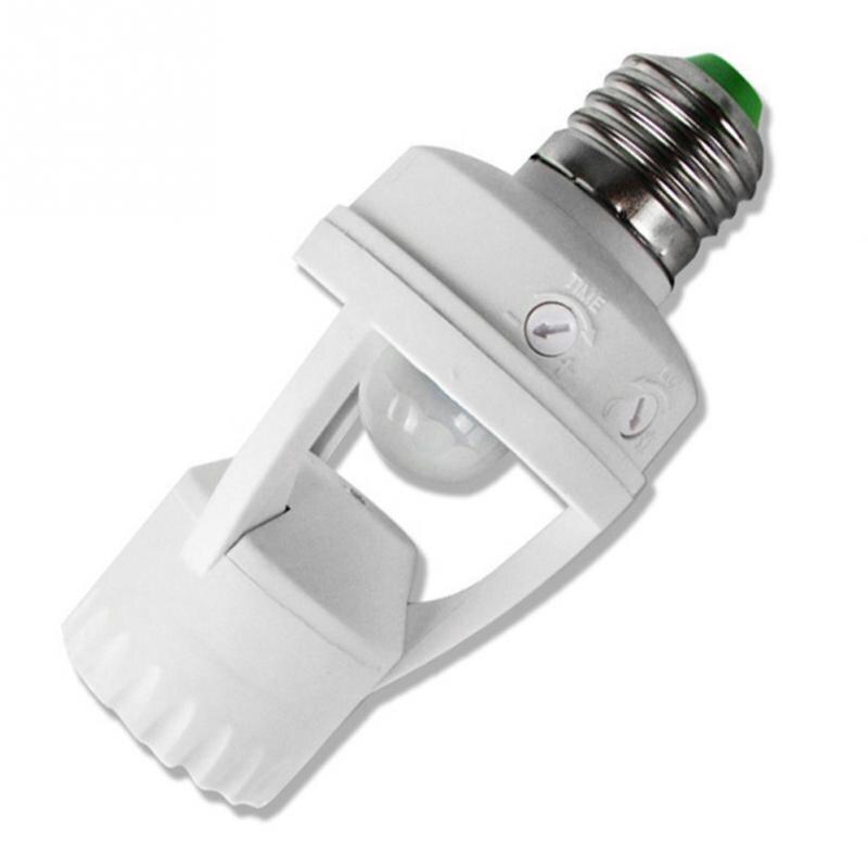 цена на 360 Degrees 60W E27 Plug Socket Switch Base PIR Induction Motion Sensor IR infrared Human Led Bulb Light Lamp Holder