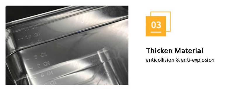 Biolomix Dobrável Articulada Recipiente com Tampa para Circulador de Sous Vide Sous Vide Culinária Precisão Fogão 11 Litros de Capacidade