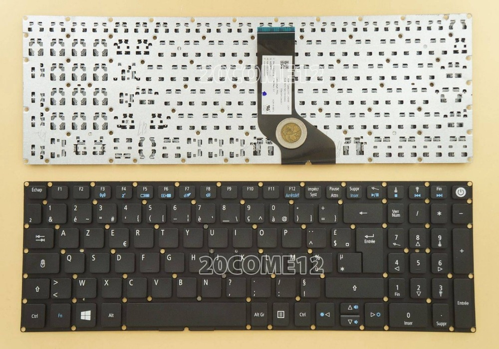 New notebook Laptop keyboard for ACER ASPIRE E5-573 E5-573G E5-573T E5-573TG E5-722 Fr / french  layout laptop keyboard for acer silver without frame french fr v 121646ck2 fr aezqsf00110