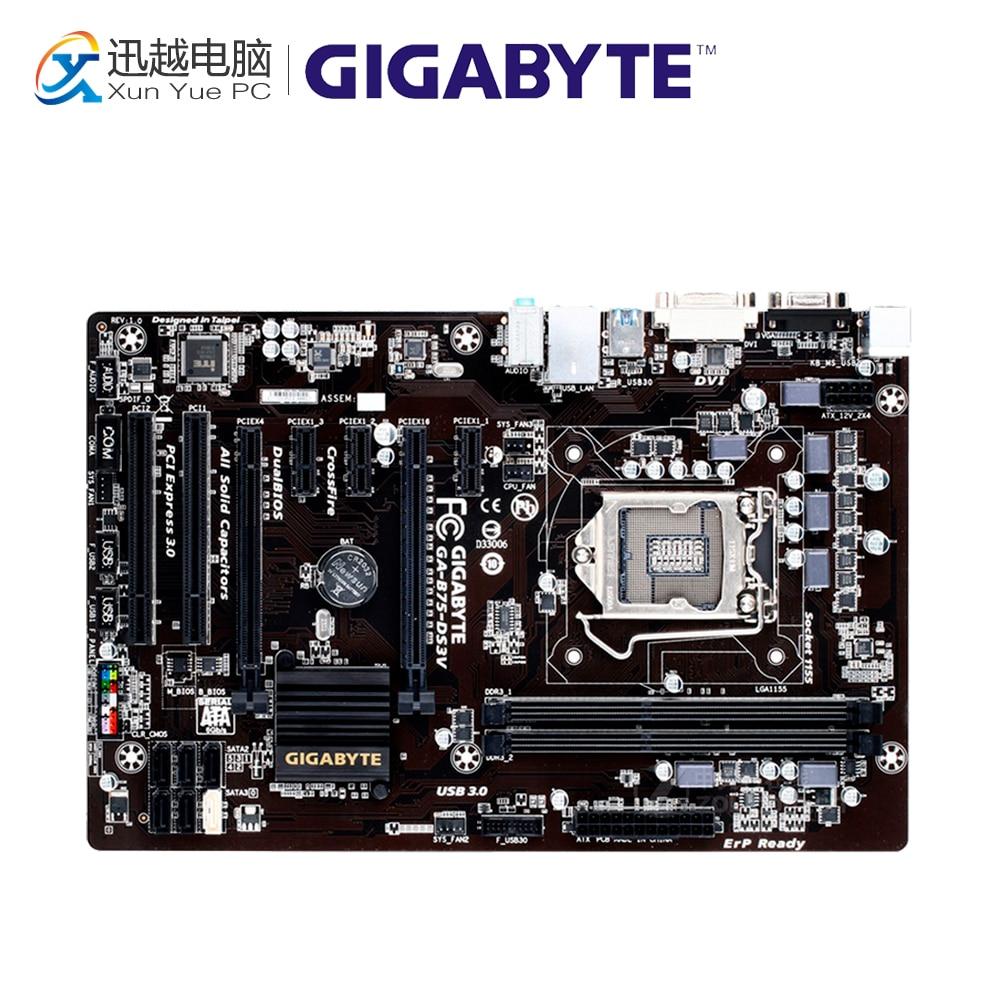 Gigabyte GA-B75-DS3V Desktop Motherboard B75-DS3V B75 LGA 1155 i3 i5 i7 DDR3 16G ATX массажер аппарат gezatone массажер домашняя мезотерапия лица gezatone m8810