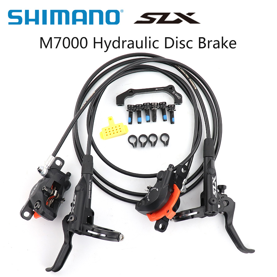 <font><b>Shimano</b></font> <font><b>SLX</b></font> <font><b>M7000</b></font> M7100 Hydraulic Disc <font><b>Brake</b></font> set ICE Tech for mountain bike bicycle MTB 800/850mm 1500/1600mm mtb bike Parts image