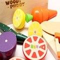 Cada família Simulação de cortar frutas legumes crianças brincar de casinha jogo Brinquedo Educacional de Madeira de alta qualidade