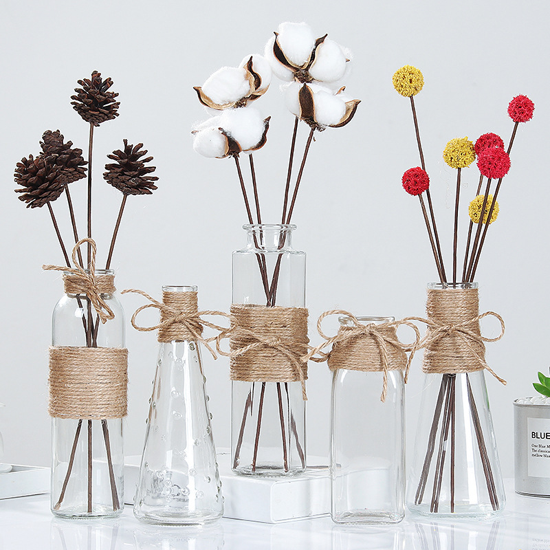 Creative Nordic Glass Vases Living Room Table Decoration