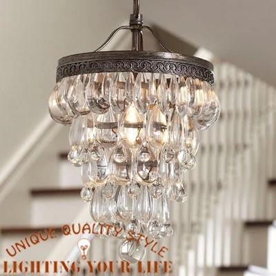 ikea crystal chandelier decorative chandelier american living room study lamp library cafe bedroom lights