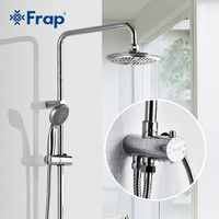 Frap New Bathroom Rainfall Shower Faucets Set Handle Overhead Mixer Tap Faucets Chrome Wall Mounted Bath