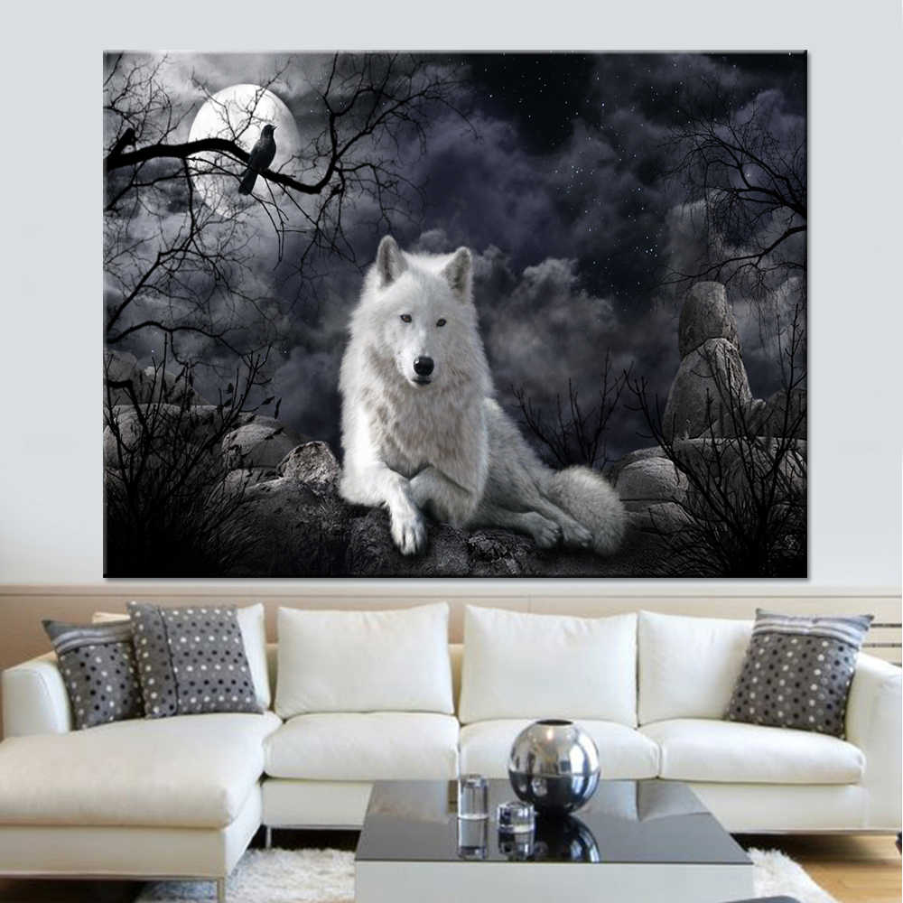 Decoration Pictures Living Room Wall Art Framework Modular Printed 1 Panel Animal Wolf Poster Canvas Cuadros Oil Painting