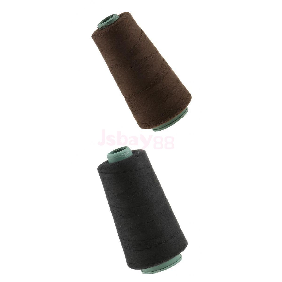 2 Pieces Hair Weaving Sewing Decor Thread Spool for Wig Weft Hair Extensions ...