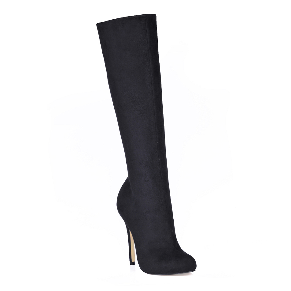 CHMILE CHAU Sexy Fashion Party Shoes Women Stiletto High Heels Lady Knee-High Boot Zapatos Mujer Bottes Genoux Femmes 0640CBT-b2