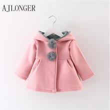 2016 New Girls Jacket Cartoon Design Cotton Spring Autumn Baby Girl Coat Children Jackets Kids Clothing