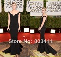 2014 The 71st Golden Globe Awards Emma Roberts Red Carpet Dress Off-Shoulder Backless Ruched Celebrity Dresses