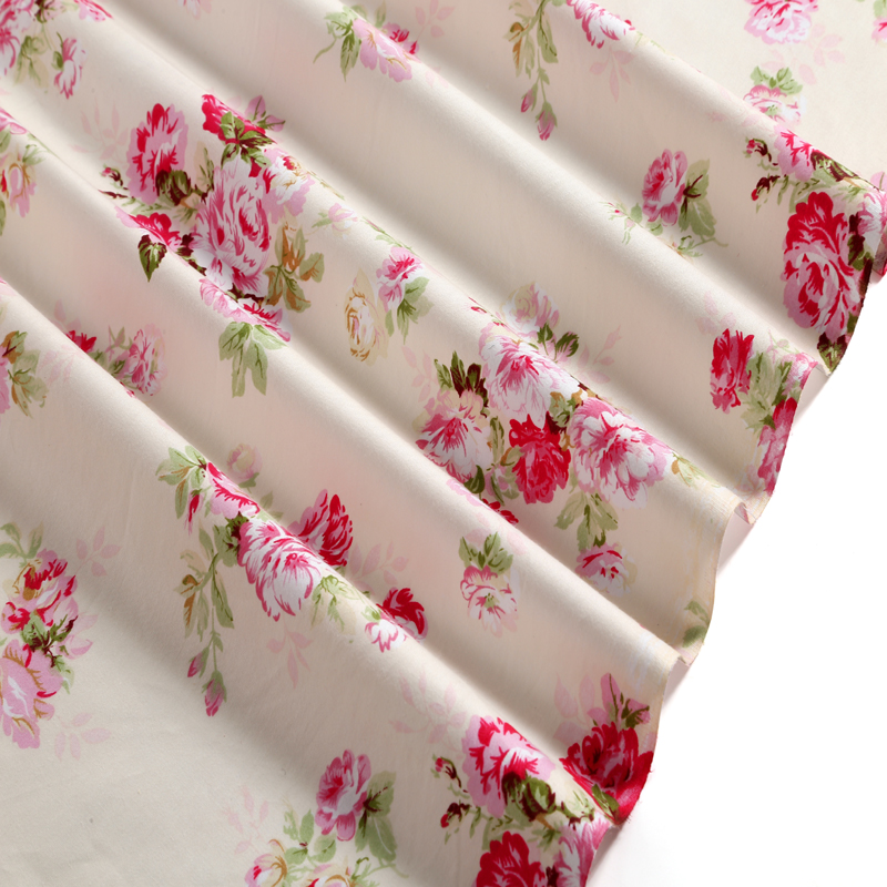Graceful 5 designs pink flower printed cotton fabric floral fabric graceful 5 designs pink flower printed cotton fabric floral fabric for diy sewing quilting bedding clothing decoration in fabric from home garden on mightylinksfo